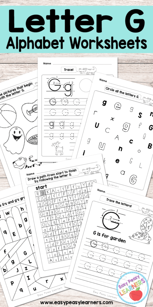 Letter G Worksheets   Alphabet Series   Easy Peasy Learners Throughout Letter G Worksheets