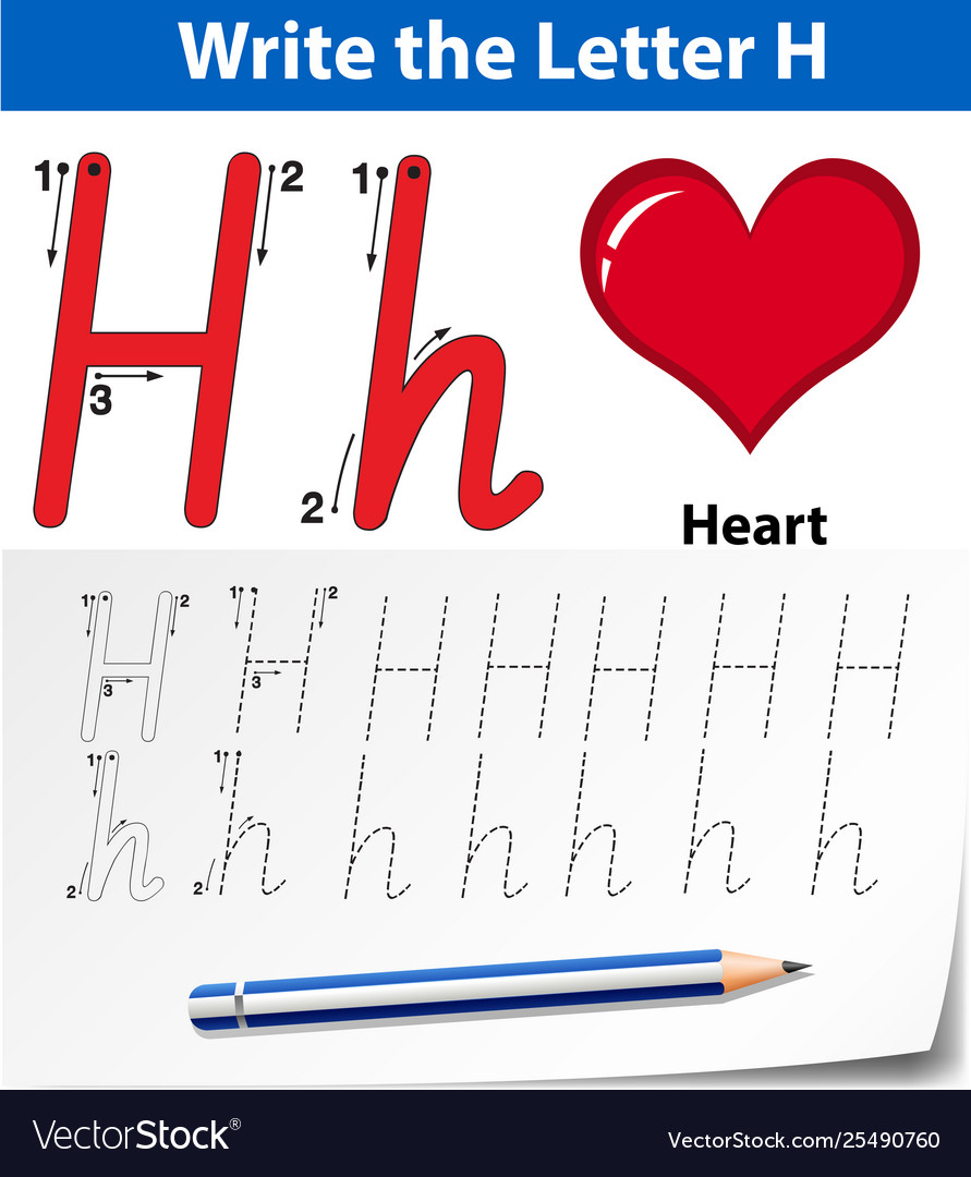 Letter H Tracing Alphabet Worksheets regarding Letter H Alphabet Worksheets