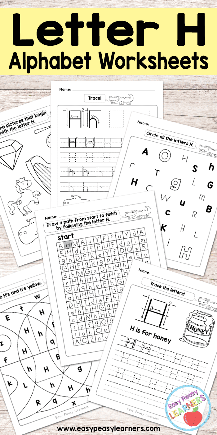 Letter H Worksheets - Alphabet Series - Easy Peasy Learners within Letter H Alphabet Worksheets