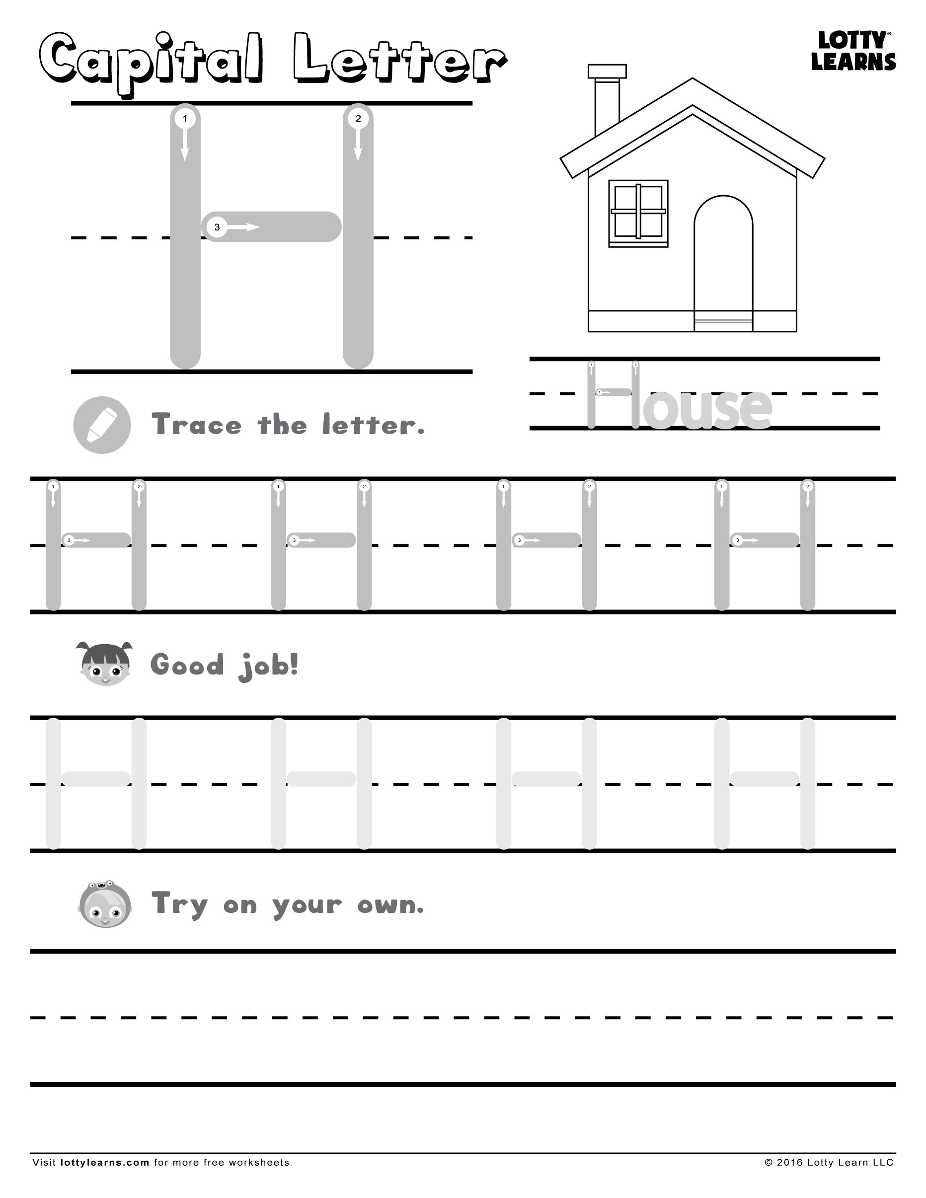 Letter H Worksheets Dr | Printable Worksheets And Activities for Letter H Worksheets Twisty Noodle