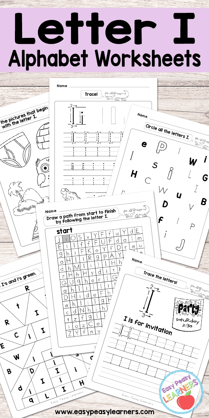 Letter I Worksheets - Alphabet Series - Easy Peasy Learners intended for Letter I Printable Worksheets