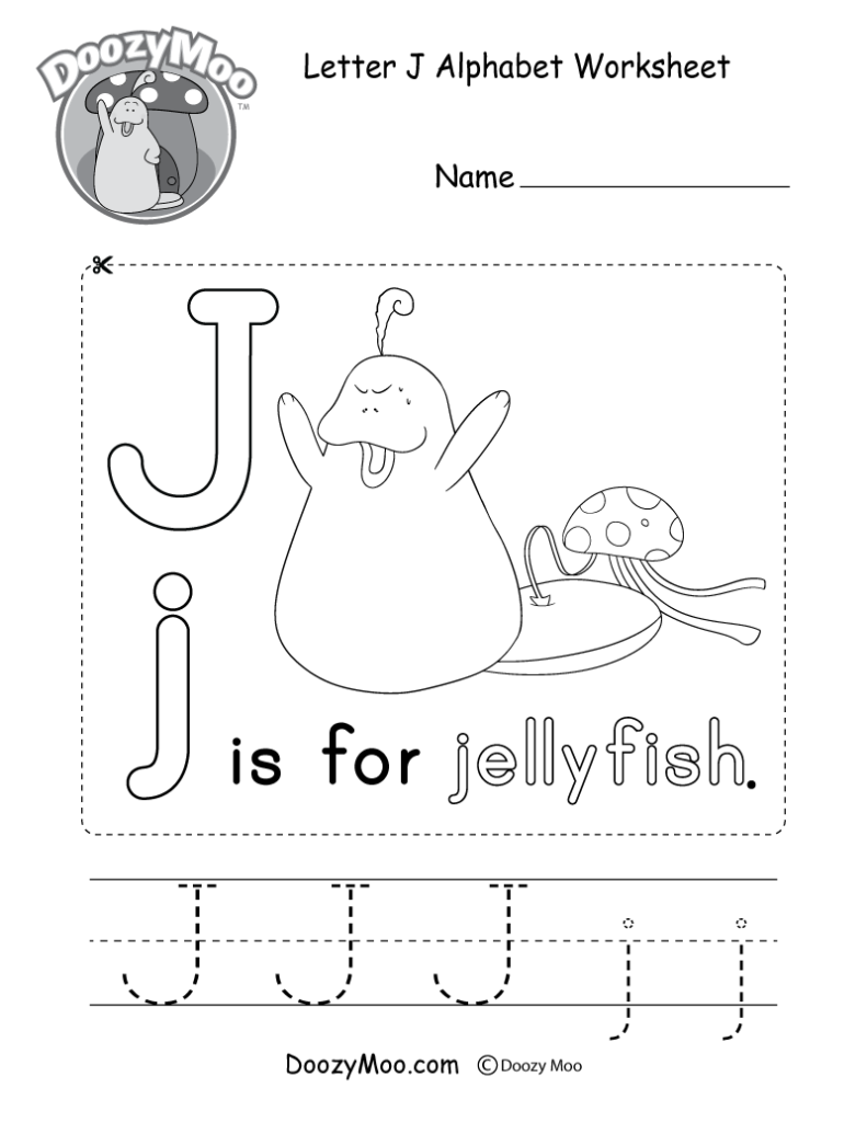 Letter J Alphabet Activity Worksheet   Doozy Moo Regarding Letter J Worksheets For Preschool