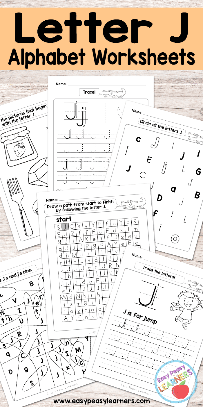 Letter J Worksheets - Alphabet Series - Easy Peasy Learners intended for Letter J Worksheets For Kindergarten