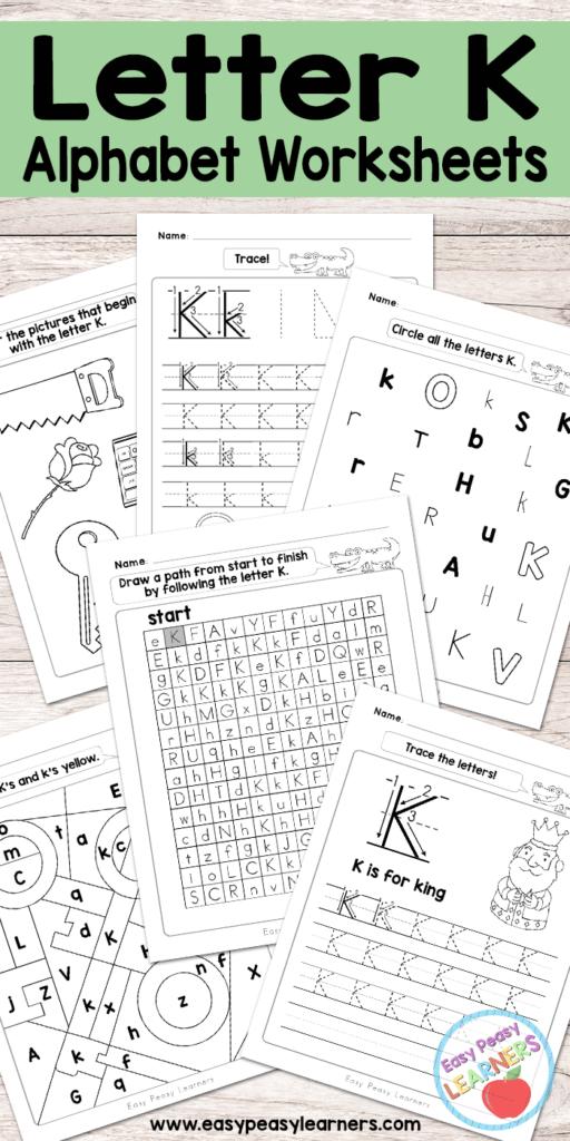 Letter K Worksheets   Alphabet Series   Easy Peasy Learners For Alphabet Worksheets For Young Learners