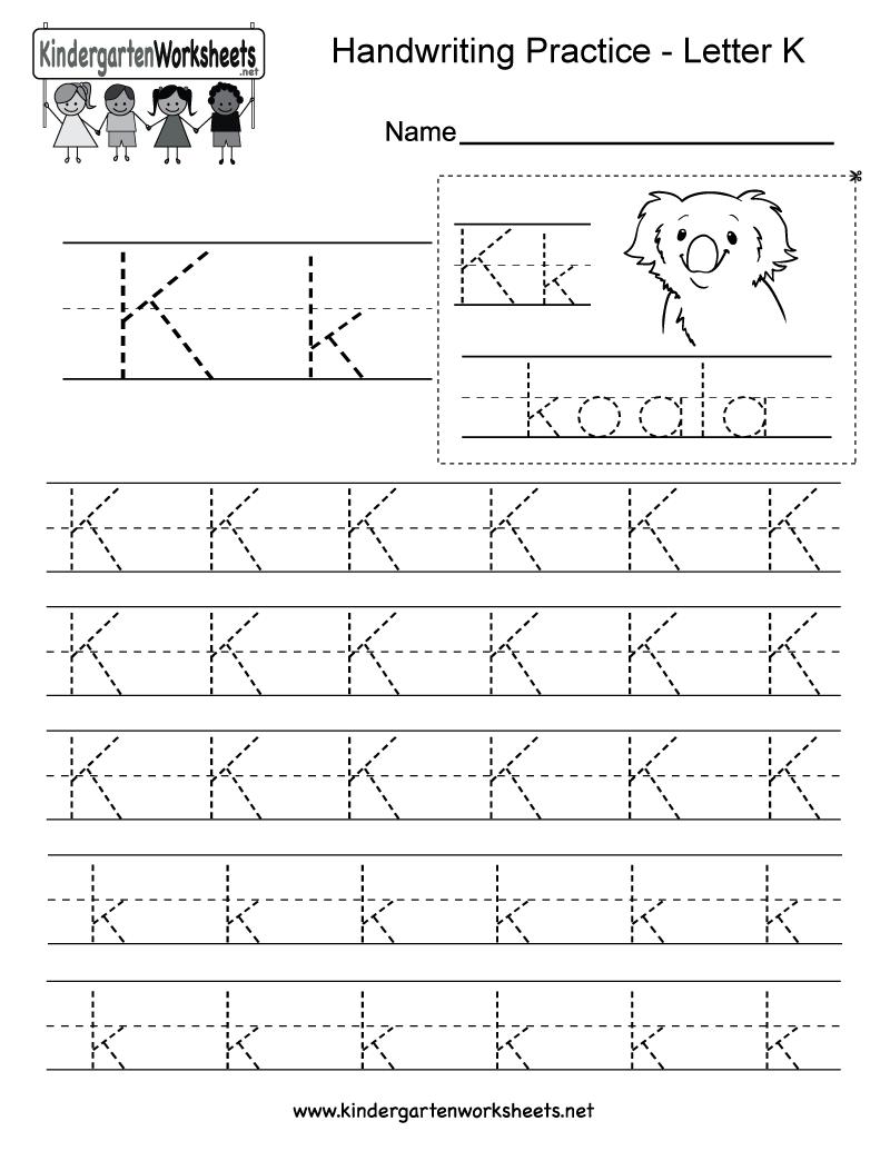 Letter K Writing Practice Worksheet. This Series Of regarding K Letter Worksheets