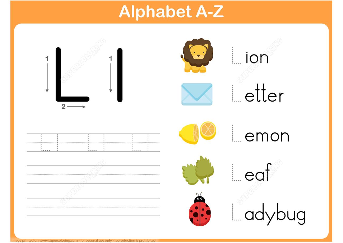 Letter L Tracing Worksheet | Free Printable Puzzle Games within Letter L Tracing Worksheet