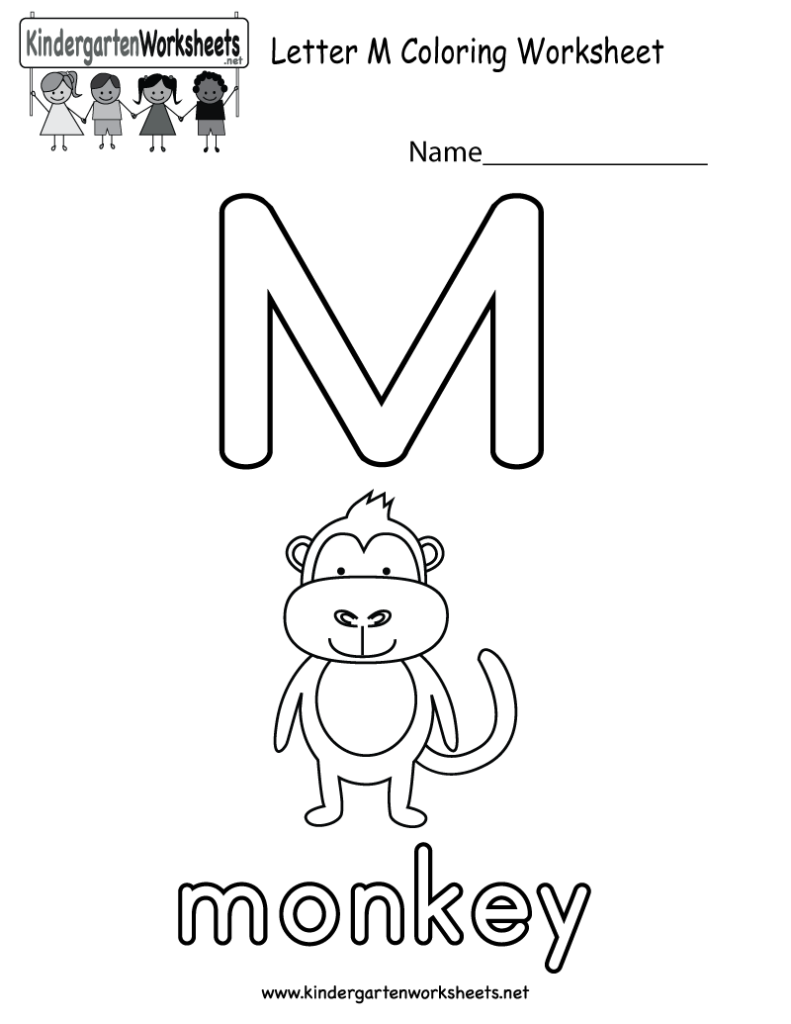 Letter M Coloring Worksheet For Kids Who Are Learning The Throughout Letter M Worksheets For Toddlers