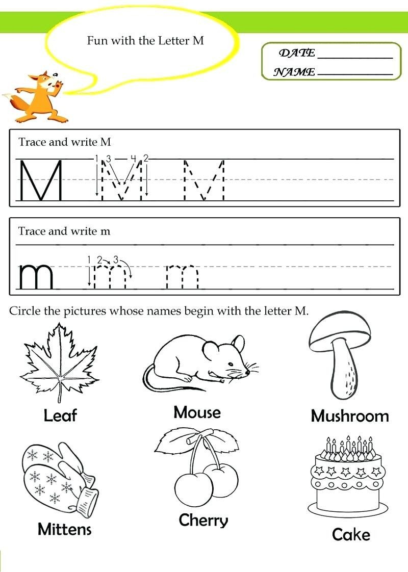 Letter M Worksheets For Toddlers In 2020 | Kindergarten for Letter M Worksheets For Toddlers