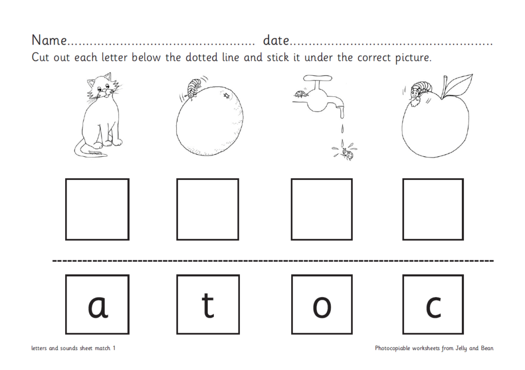 Letter Matching Worksheets For Reception And Ks1 In Key Stage 1 Alphabet Worksheets