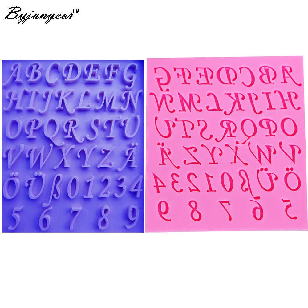 Letter/number Epoxy Uv Resin Silicone Mold Diy Craft Cake