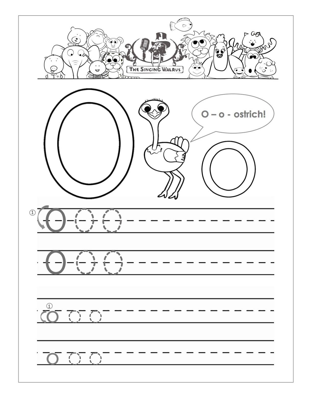 Letter O Worksheets For Preschool   Activity Shelter throughout Letter O Worksheets