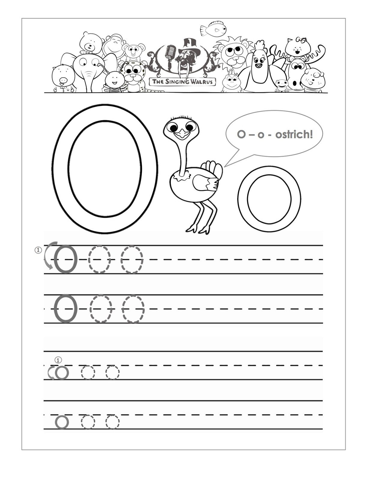 Letter O Worksheets For Preschool | Activity Shelter with Letter O Tracing Worksheets Preschool