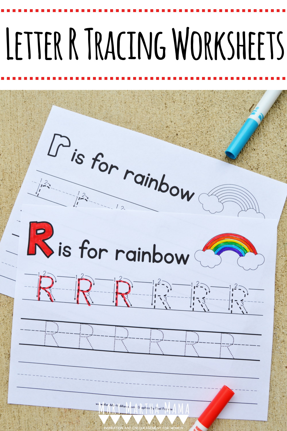 Letter R Tracing Worksheets – Mary Martha Mama within Letter R Tracing Paper