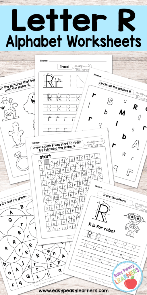 Letter R Worksheets   Alphabet Series   Easy Peasy Learners Throughout Alphabet R Worksheets