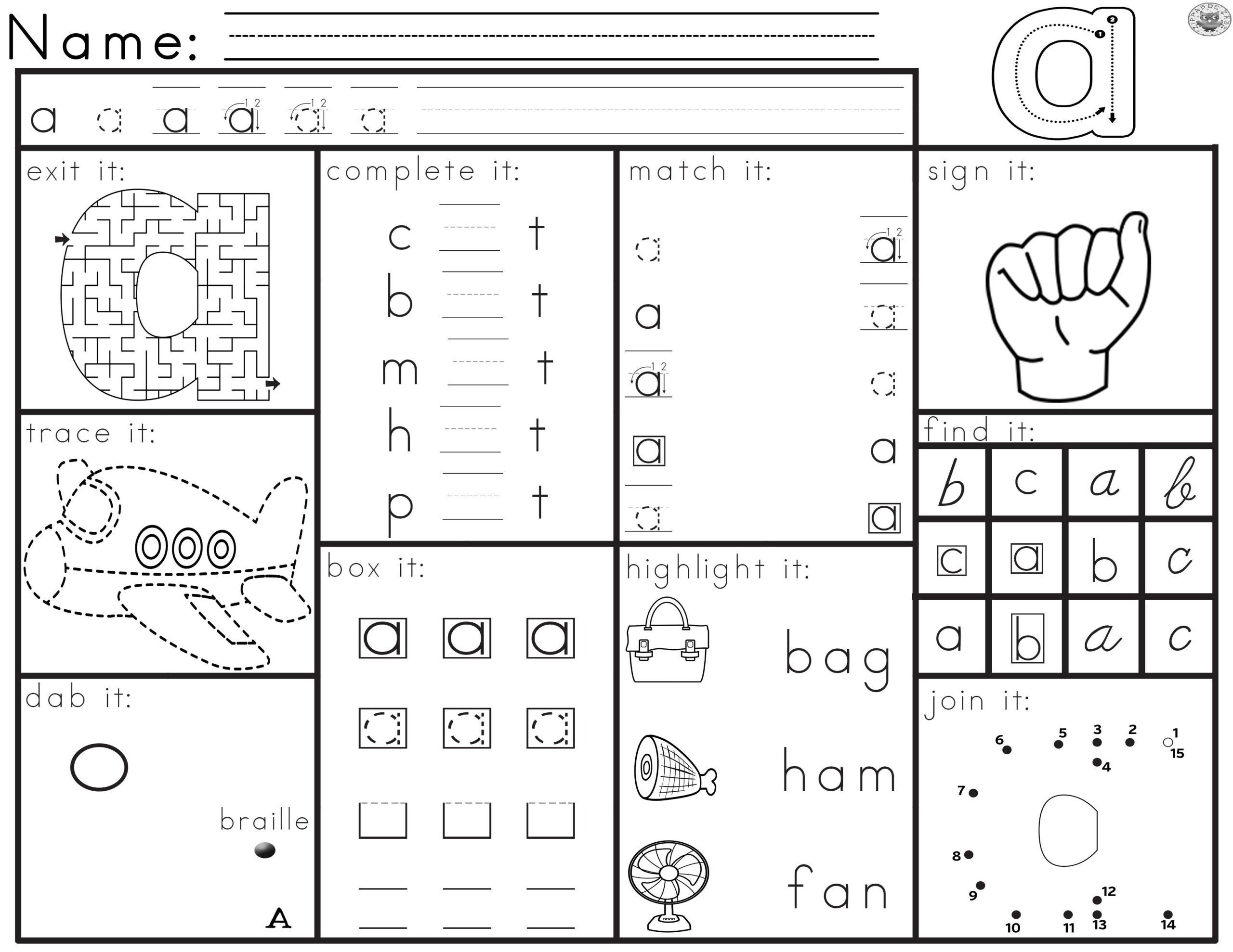 Letter Recognition Activity Worksheets Each Worksheet intended for Alphabet Recognition Worksheets For Preschool