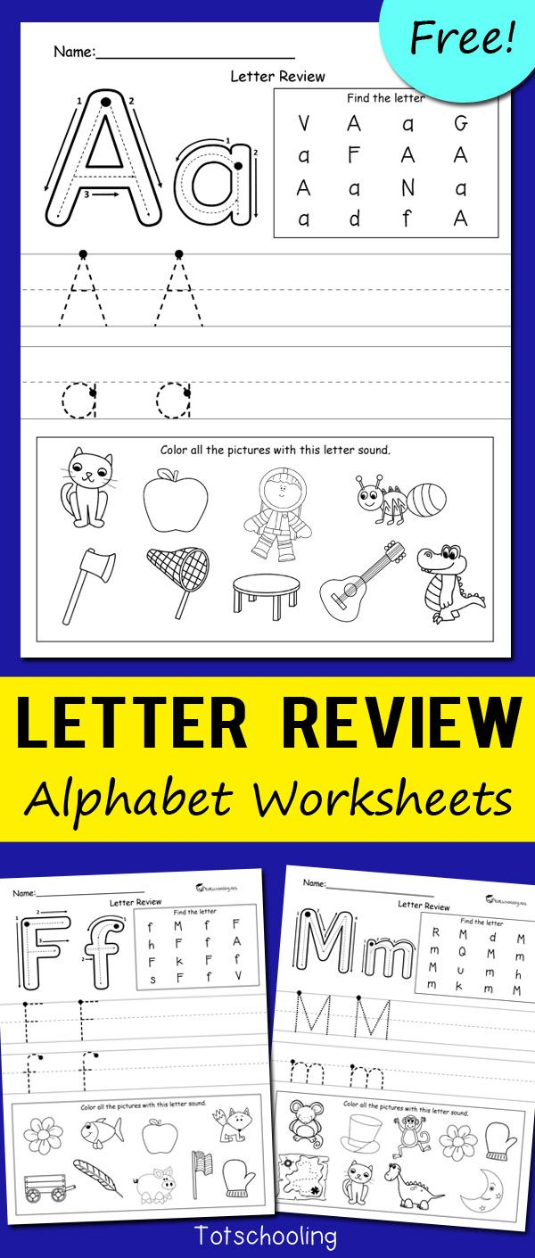 Letter Review Alphabet Worksheets | Alphabet Worksheets pertaining to Alphabet Revision Worksheets/kindergarten