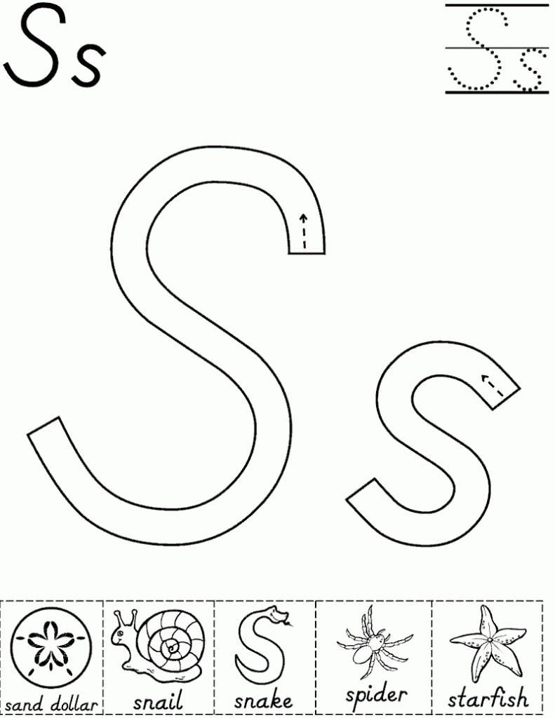 Letter S Worksheets Kindergarten Free Fresh Worksheet Trace intended for Letter S Worksheets Kindergarten Free