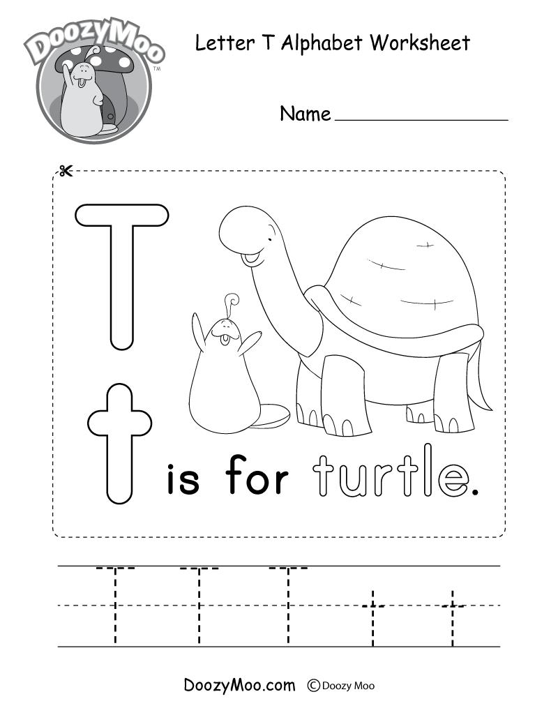 Letter T Alphabet Activity Worksheet - Doozy Moo regarding Letter T Worksheets Pdf