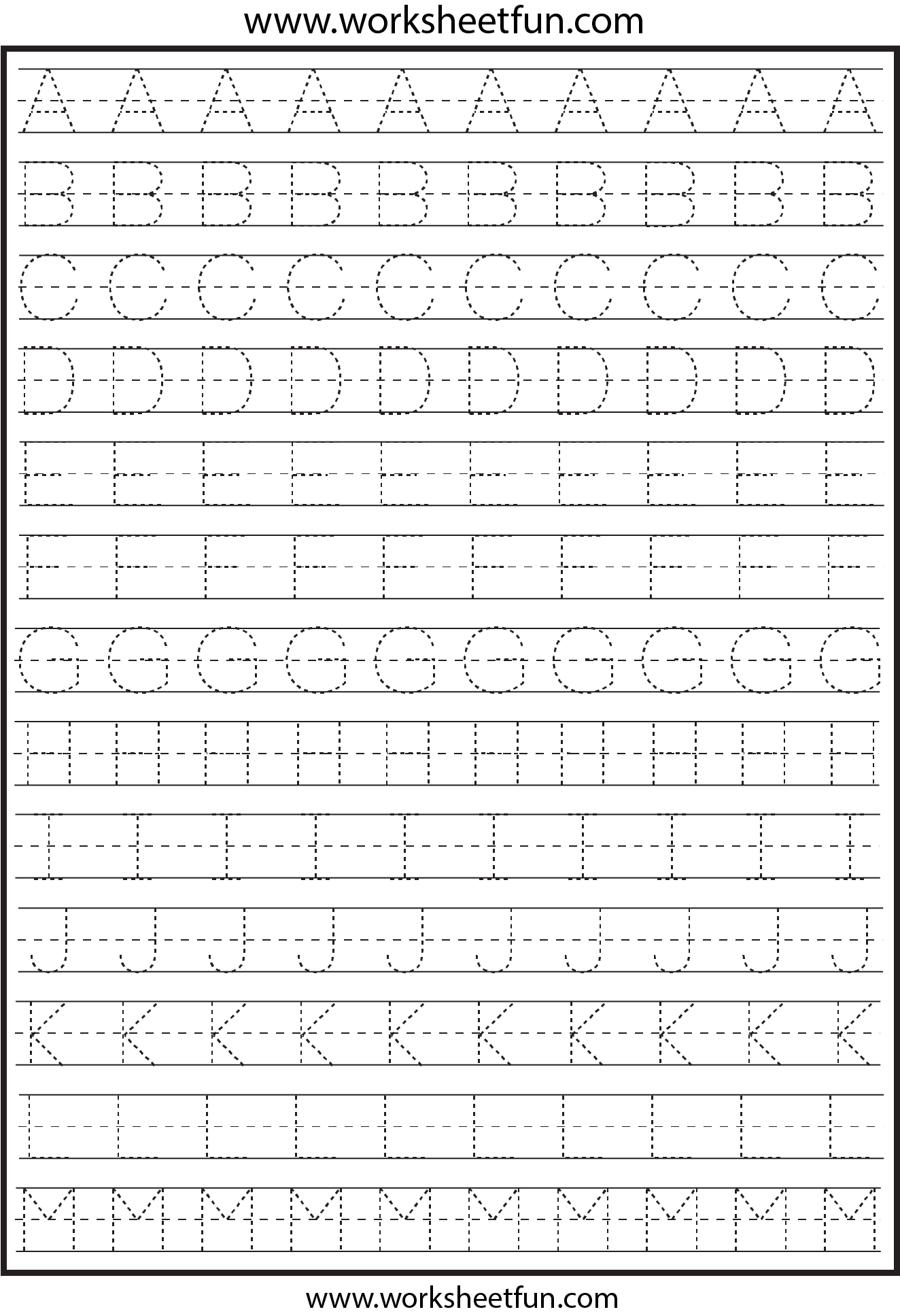 Letter Tracing – 2 Worksheets   Writing Practice Worksheets