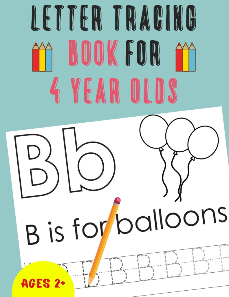 Letter Tracing Book For 4 Year Olds: Alphabet Tracing Book For 4 Year Olds  / Notebook / Practice For Kids / Letter Writing Practice   Gift (Paperback) Inside Alphabet Tracing Book Walmart