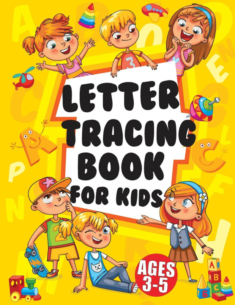 Letter Tracing Books For Kids Ages 3 5 : Large Print Trace Letters (Book  Size 8.5X11 Inches)   Trace Letters Of The Alphabet Practicing With (Kids Pertaining To Alphabet Tracing Book Walmart