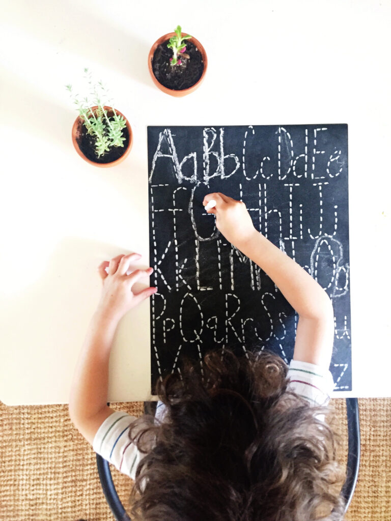 Letter Tracing Chalkboard Diy   Angela Cheatwood Throughout Name Tracing Chalkboard