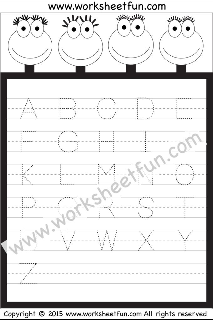 Letter Tracing Worksheet – Capital Letters / Free Printable Regarding Alphabet Tracing Worksheets 1 10 Pdf