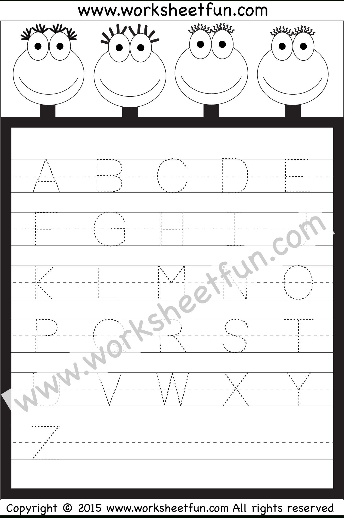 Letter Tracing Worksheet – Capital Letters / Free Printable regarding Alphabet Tracing Worksheets 1-10 Pdf