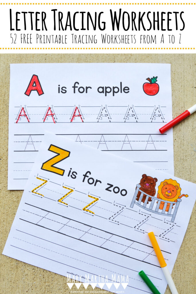 Letter Tracing Worksheets [Free Handwriting Practice] – Mary