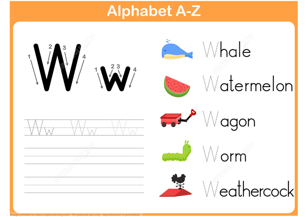 Letter W Tracing Worksheet | Free Printable Puzzle Games With Regard To Letter W Tracing Worksheets