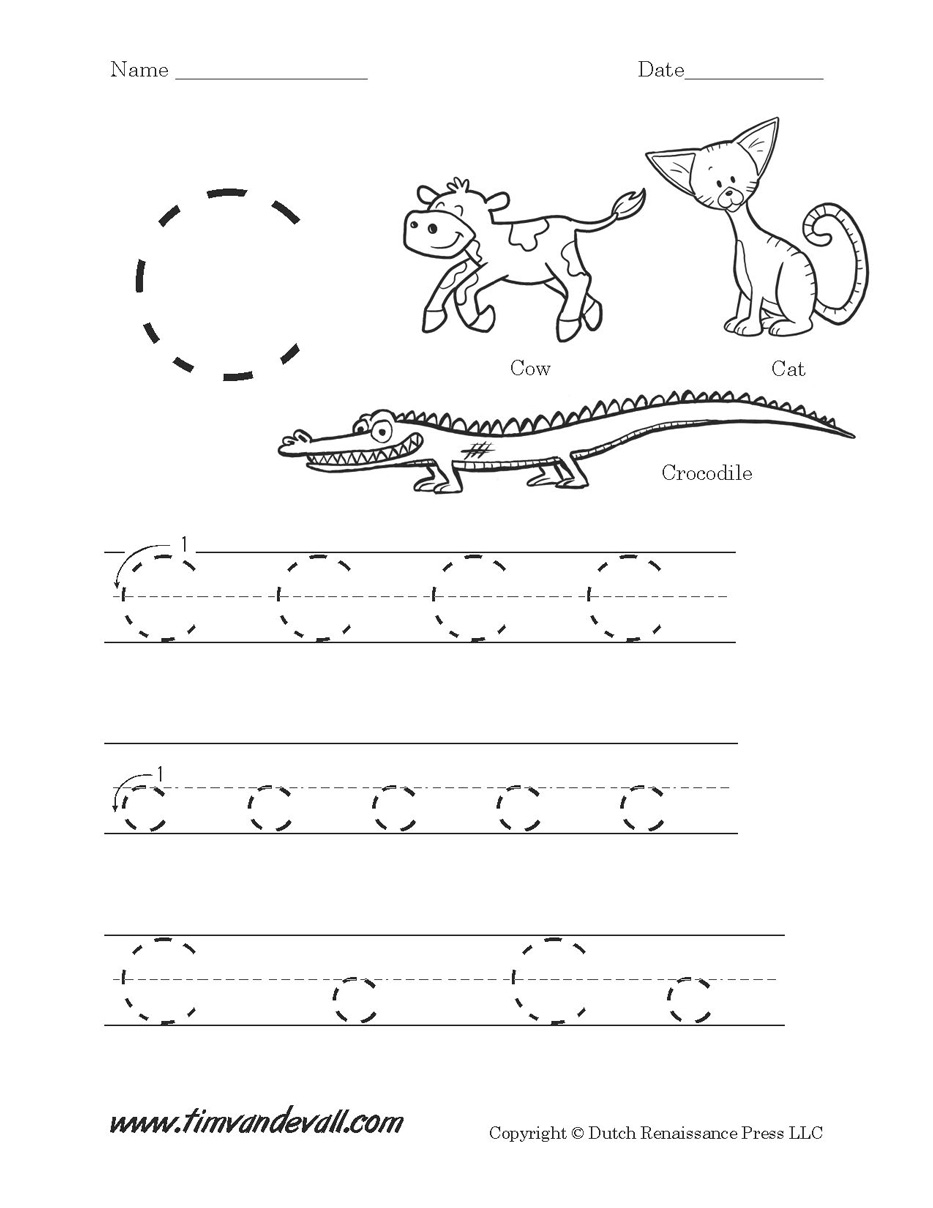 Letter Worksheets And Activities Coloring For Kids Toddlers for Letter C Worksheets For Preschool