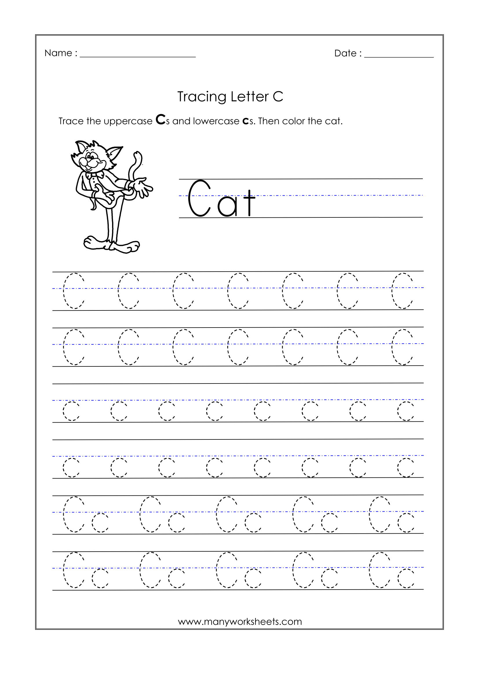 Letter Worksheets For Kindergarten Trace Dotted Letters pertaining to Letter Tracing J
