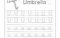 First Grade Tracing Worksheets