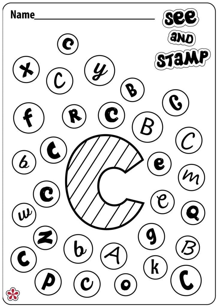 Letter Worksheets Teachersmag Practice Free 6Th Grade Math Inside Alphabet Tracing Stamps