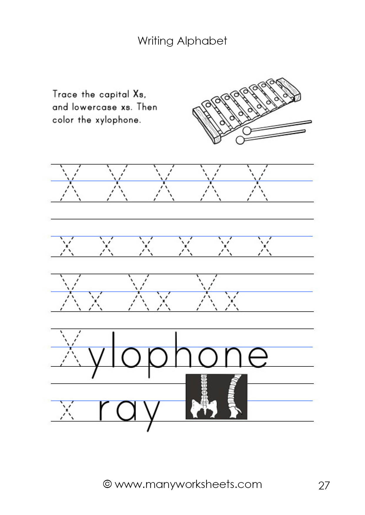 Letter X Worksheet – Tracing And Handwriting for Letter X Worksheets For Preschool
