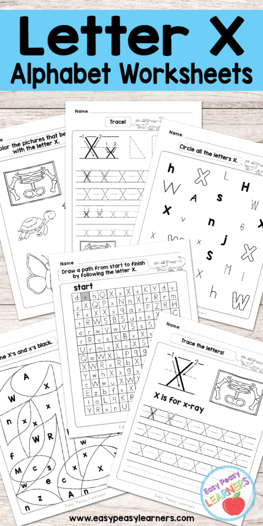 Letter X Worksheets   Alphabet Series   Easy Peasy Learners In Letter X Tracing Page