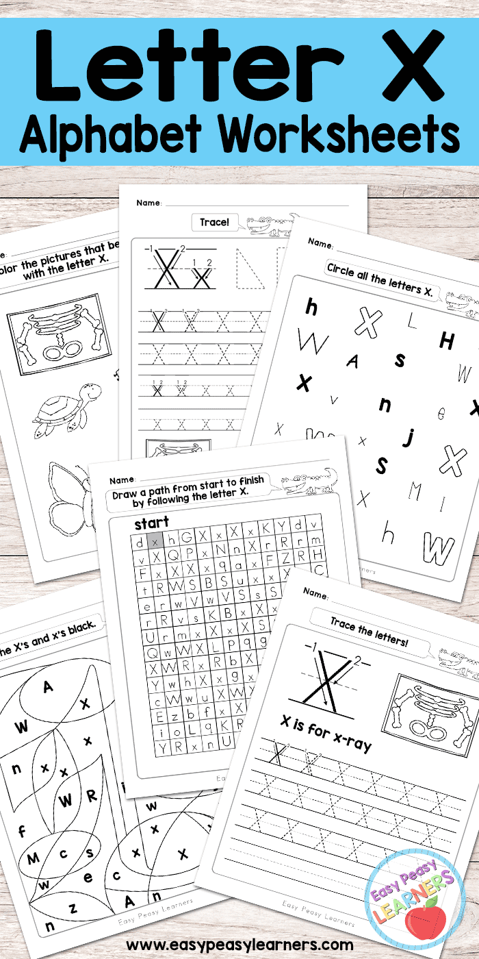 Letter X Worksheets - Alphabet Series - Easy Peasy Learners in Letter X Tracing Page