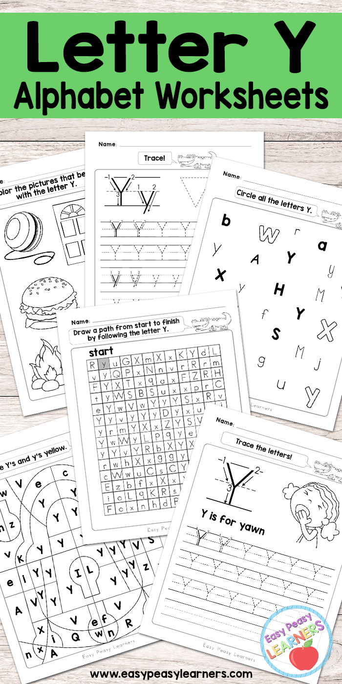 Letter Y Worksheets - Alphabet Series - Easy Peasy Learners with regard to Y Letter Worksheets