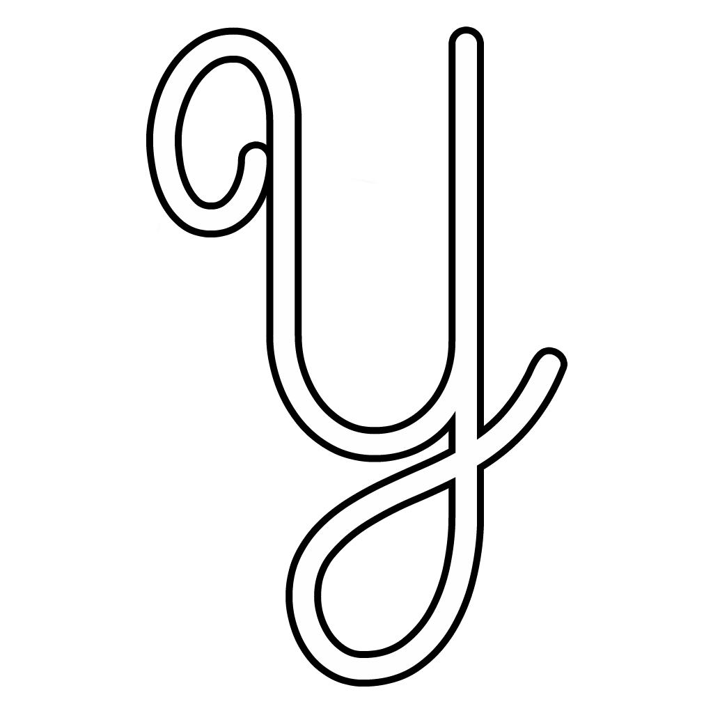 Letters And Numbers - Cursive Uppercase Letter Y