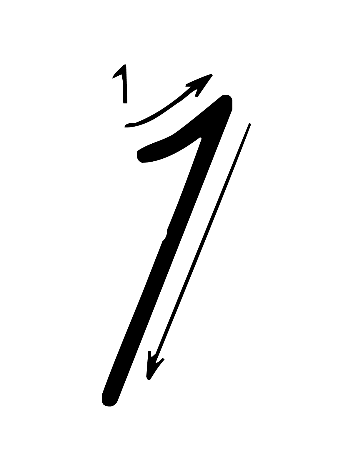 Letters And Numbers - Number 1 (One) With Indications