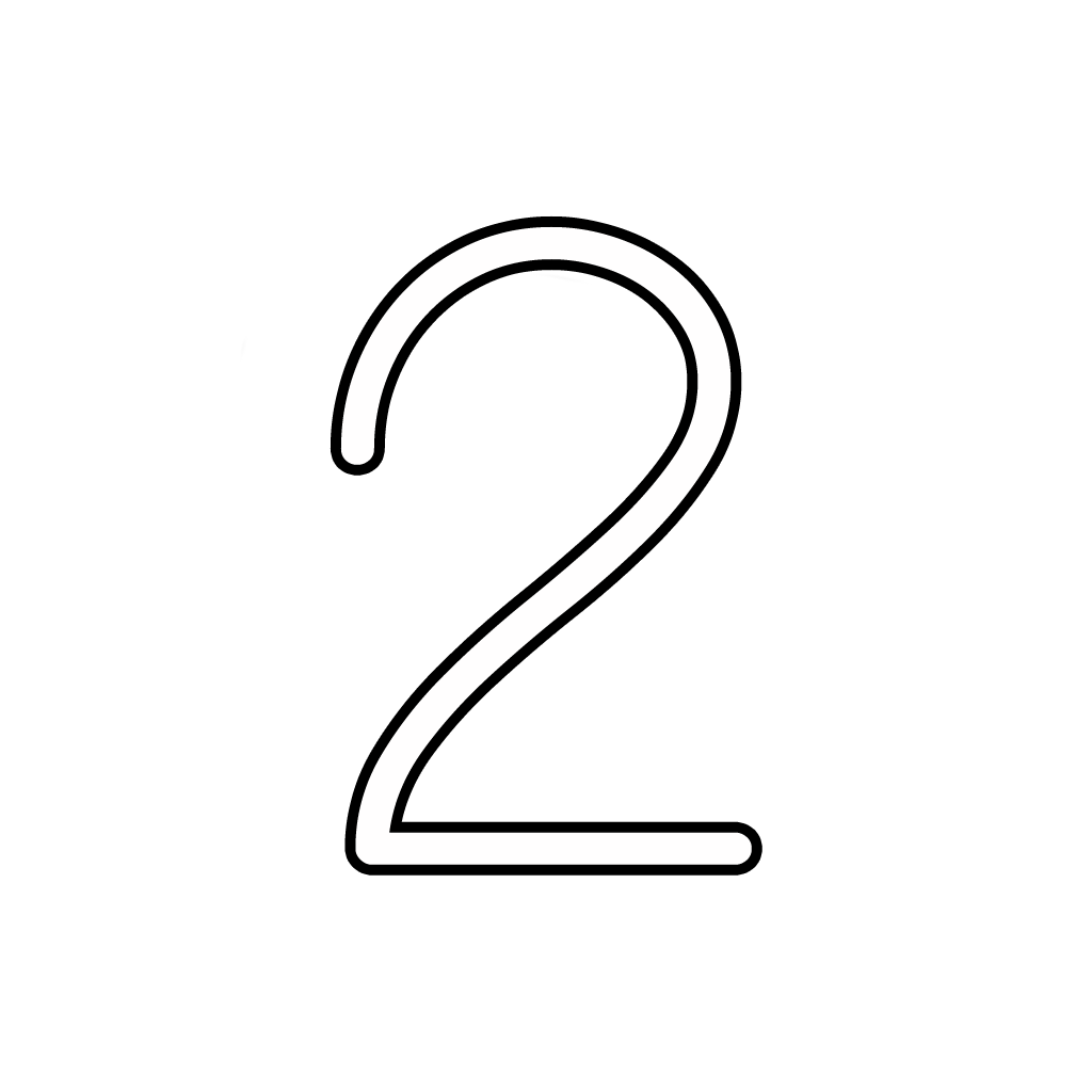 Letters And Numbers   Number 2 (Two) Cursive