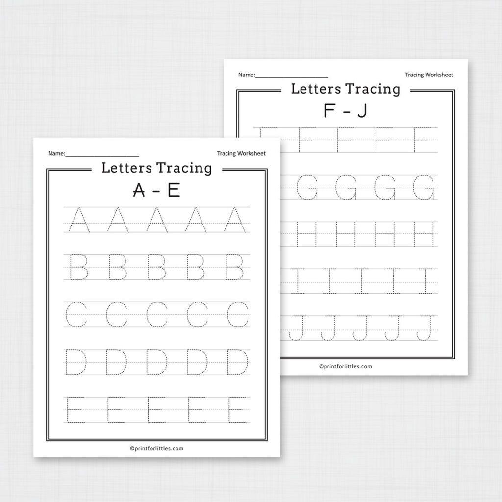 Letters Tracing A Z Worksheets
