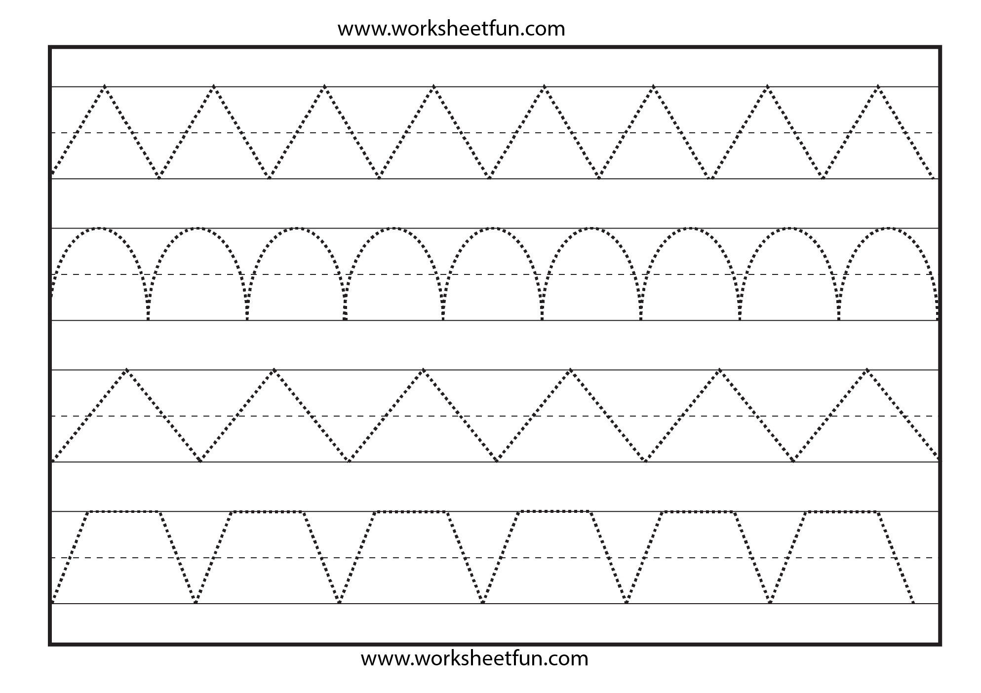 Line Tracing – 1 Worksheet / Free Printable Worksheets