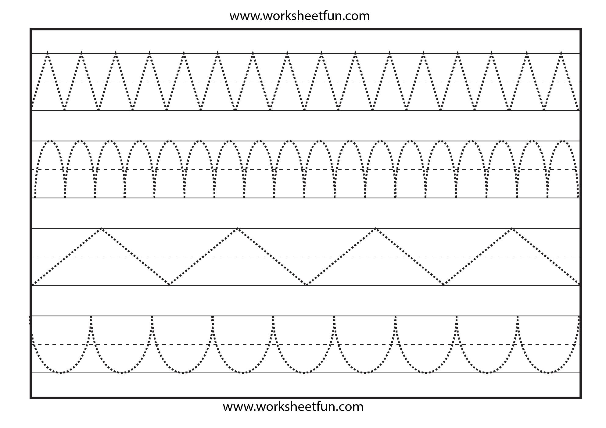 Line Tracing – 1 Worksheet   Tracing Sheets, Shape Tracing