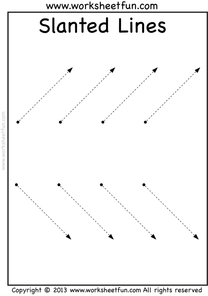 Line Tracing – Vertical, Horizontal And Slanted – 3