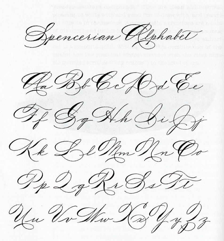 Looking For Certain Spencerian Exemplar - Calligraphy