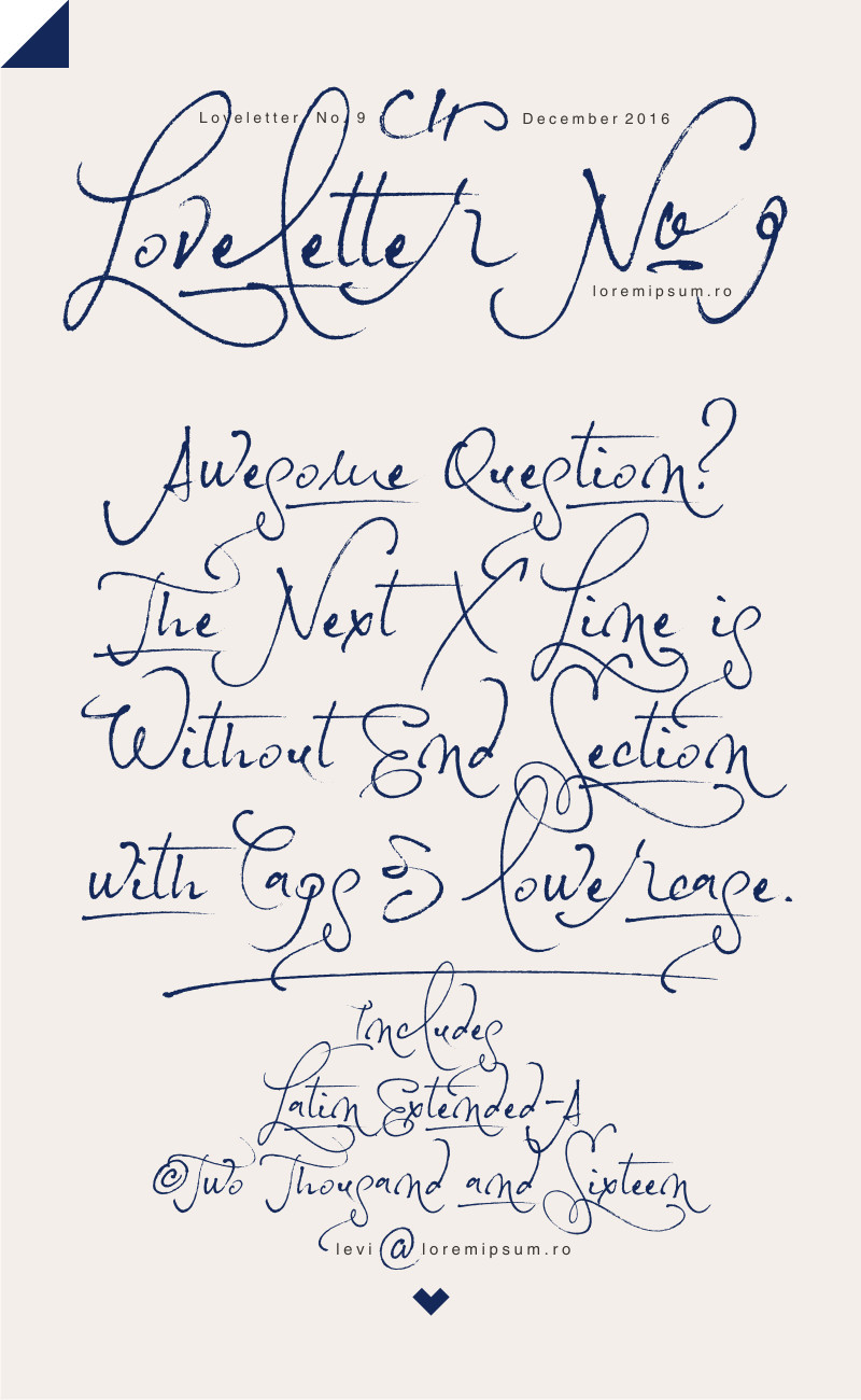 Loveletter No. 9 Font - Befonts