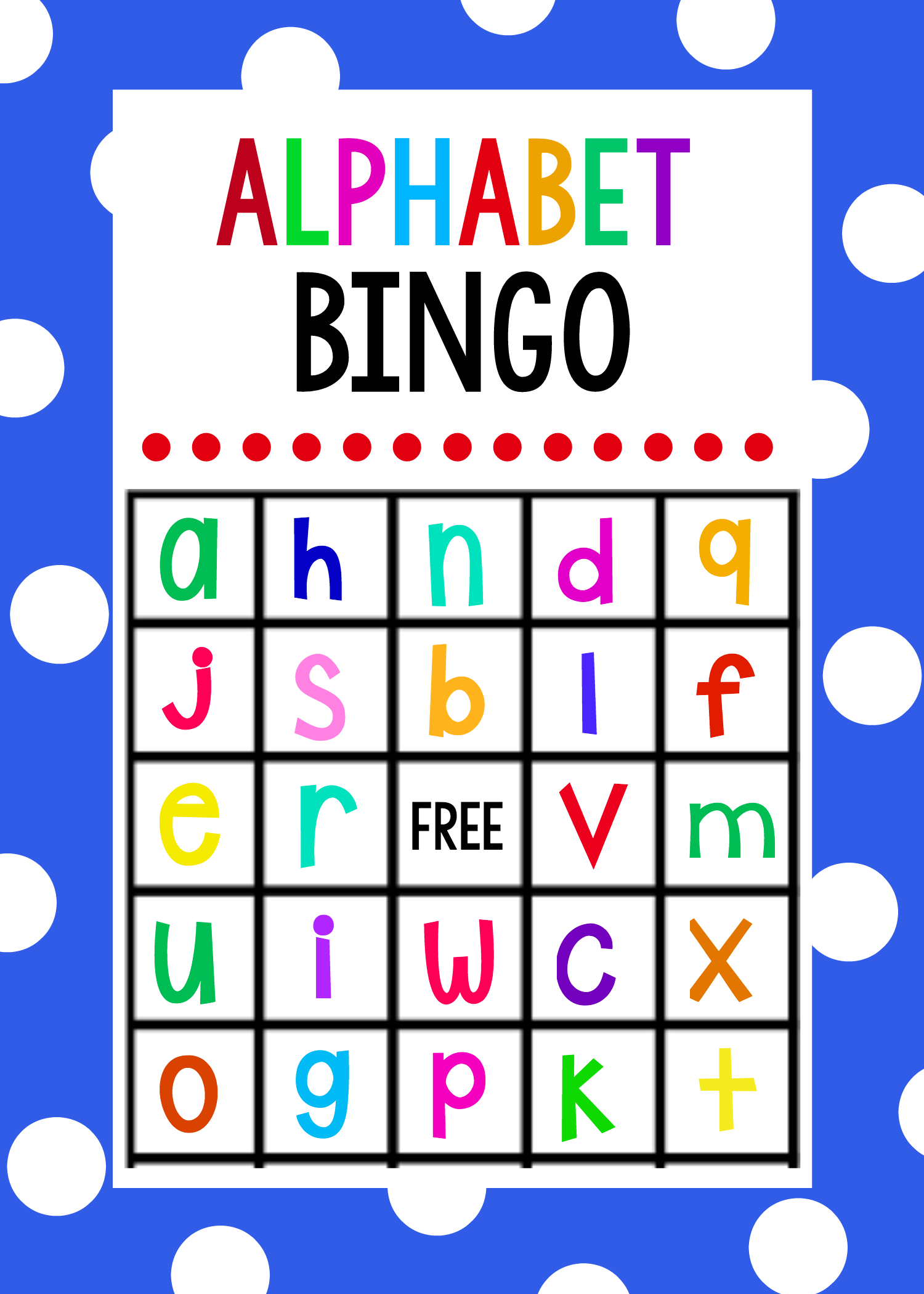 Lowercase Alphabet Bingo Game | Alphabet Games For inside Alphabet Bingo Worksheets