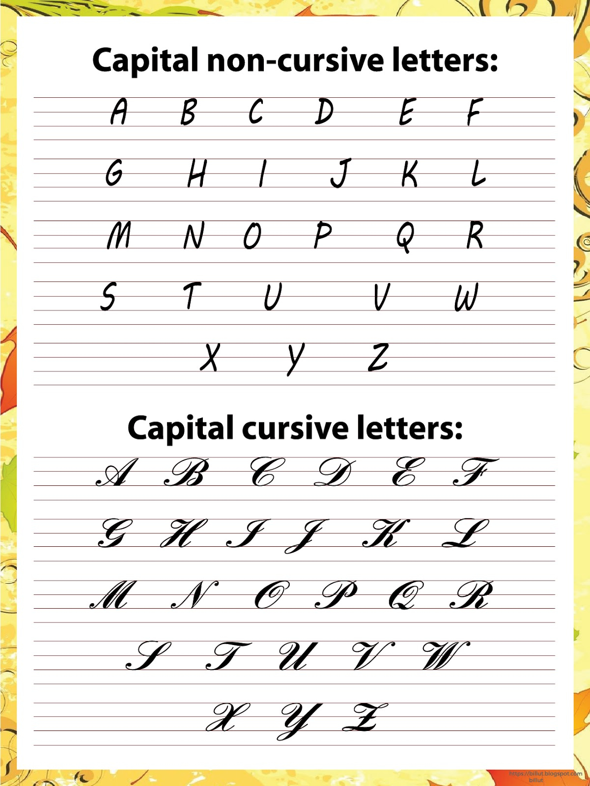 Lowercase And Cursive Letters