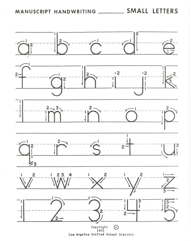Lowercase Letter Practice | Alphabet Writing Practice